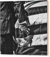 Hand In Flag Wood Print