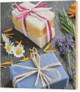 Handmade Soaps With Herbs Wood Print