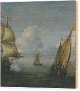 Hans Goderis Dutch Shipping At Sea, 1615 Wood Print