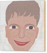 Happy Boy Wood Print