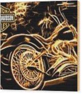 Harley-davidson Wood Print by Aaron Berg