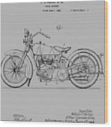 Harley Davidson Motorcycle Patent 1925 Wood Print