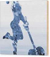 Harley Quinn-blue Wood Print