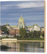 Harrisburg Skyline Wood Print