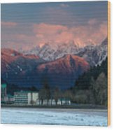 Harrison Hot Springs And Mount Cheam Range Wood Print