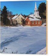 Harrisville Pond II Wood Print