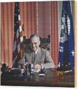 Harry S. Truman Wood Print