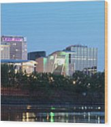 Hartford Skyline Panorama Wood Print