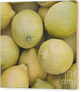 Harvested Lemons Wood Print