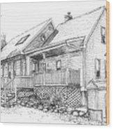 Harvey Lake House Wood Print