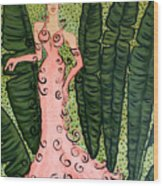 Haute Couture Flamingo Wood Print