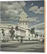 Havana National Capitol Wood Print