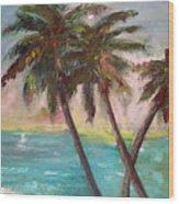 Hawaiian Palms Wood Print