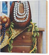 Hawaiian Still Life Panel Wood Print