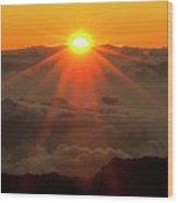 Hawaiian Sunrise Wood Print