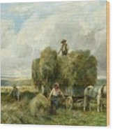 Haymaking Wood Print