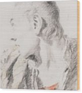 Head Of A Youth Turned To The Left Wood Print