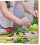 Healthy Pregnancy Concept Wood Print