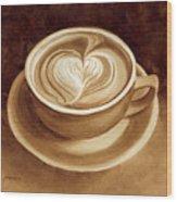 Heart Latte II Wood Print