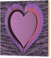 Heart Shape Wood Print