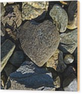 Heart Shaped Stone Loch Fyne  Wood Print