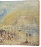 Heidelberg With A Rainbow Wood Print