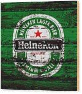 Heineken Beer Wood Sign 1e Wood Print