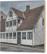Helsingor Old Building Wood Print