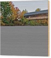 Henniker Bridge Wood Print