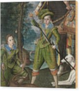 Henry Frederick Prince Of Wales With Sir John Harington In The Hunting Field Wood Print