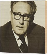Henry Kissinger 1976 Wood Print