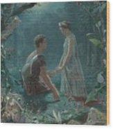 Hermia And Lysander Wood Print