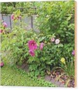 Hibiscus In The Garden Wood Print
