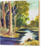 Hidden Glade Wood Print