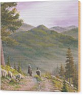 High Country Trails Wood Print