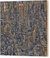 High Over Manhattan Wood Print