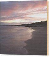 Highcliffe Beach At Sunset Wood Print