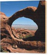 Hiking Through Arches Wood Print