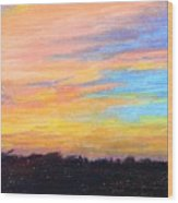 Hill Country Sunrise Wood Print