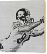 Hines Ward Diving Catch  Wood Print
