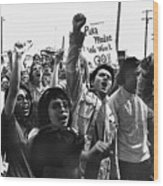 Hispanic Anti-viet Nam War Rally Tucson Arizona 1971 Wood Print