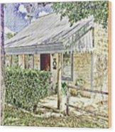 Limestone Cottage Wood Print