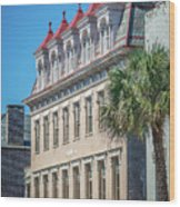 Historic Charleston South Carolina Downtown And Architetural Det Wood Print