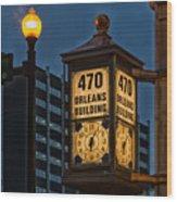 Historic Clock - Beaumont Texas Wood Print
