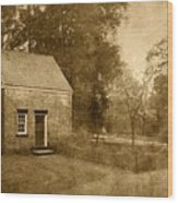 Historic Home - Allaire State Park Wood Print