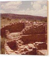 Historic Indian Ruins  Wood Print