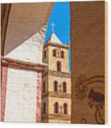Historic Stone Bell Tower Wood Print