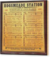 Hogsmeade Station Timetable Wood Print