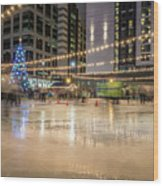 Holiday Scenes In Uptown Charlotte North Carolina Wood Print