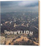 Hollywood Sign Wood Print